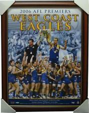 West Coast Eagles Signed 2006 Premiers Print John Worsfold Chris Judd Framed COA