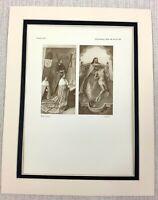 1927 Antico Stampa King James III Di Scozia James IV Hugo Van Der Goes Raro