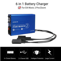 6in1 Smart Battery Charger Fast Charging USB For DJI Mavic 2 Drone Smartphone