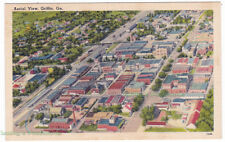 AERIAL VIEW Griffin GEORGIA - c1940 POSTCARD Spalding County