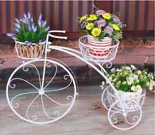 Home Garden Decor Indoor Outdoor Metal Pot Stand Bike French Provincial Planter