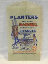 Vintage 1930's Planters Peanut Mr Peanut Glassine Sal-N-Shell 5 Cent Bag