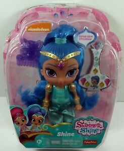 "2016 Fisher-Price Nickelodeon Shimmer & Shine 6"" Doll - Shine NEW DAMAGED BOX"