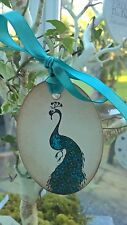 Beautiful set of x 5 Peacock design Handmade Tags for your Wish Tree and Gifts