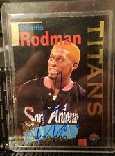 DENNIS RODMAN Autograph 1995 Signature Rookies Basketball Titans Card # T2