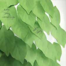 Green Vivid Leaf lifelike Leaves Self-Adhesive Memo Pad Sticky Note Bookmark