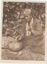 EDWARD S. CURTIS PHOTOGRAVURE THE MUSH-BASKET-KAROK.