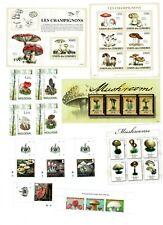 Lote sellos Setas sellos nuevos Mushrooms stamps años 2009 2010