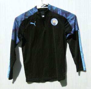 Puma Kids Manchester City Training Football Sport Training Jersey 15-16Y