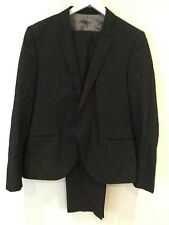 TOPMAN 2-Piece Single Breasted Mens Grey Suit UK 44 Trouser 36L