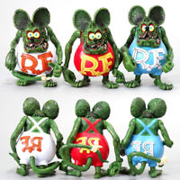 10cm Rat Fink PVC Action Figure Toy Collectible Model Doll Kids Gift Toys Decor