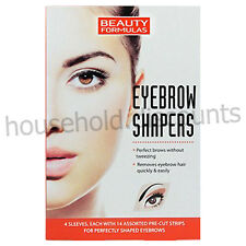 56 X BEAUTY FORMULAS EYEBROW SHAPERS WAX STRIPS EASY HAIR REMOVAL FLAWLESS CLEAN