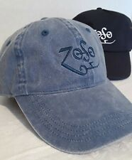 Embroidered Led Zeppelin Zoso Cap New Denim Twill Vintage Look Hat