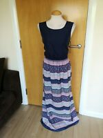 Ladies ATMOSPHERE Dress Size 18 Navy Long Maxi Smart Casual Day Party Summer