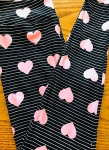 Lularoe OS Leggings NEW Love Stories 2020 Valentines Stripes Hearts Rare HTF NWT