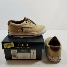 Polo Ralph Lauren Vito II - Khaki/Navy/White Sole Toddler Sz 9