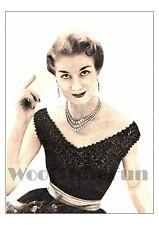 Vintage Knitting Pattern Lady's 1950s Glamour Evening Top. Off Shoulder Jumper.
