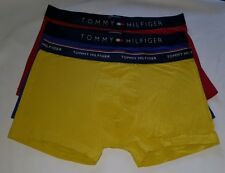 Tommy Hilfiger Men Boxer Trunks 3 Pack Red-Blue-Yellow Underwear Low RiseSize L