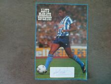 Lloyd McGrath - Coventry City Signed magazine page A4