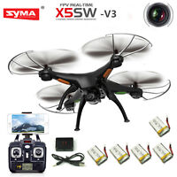 Syma X5SW-V3 Wifi FPV 2.4G RC Quadcopter Drone with HD Camera + 4 Batteries