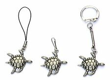 Turtle Tortoise  Zip Pull , Mobile Phone Charm or Keyring Pewter Gift Pouch new