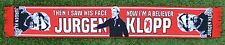 "JURGEN KLOPP LIVERPOOL FOOTBALL SCARF ""BELIEVER"" RED"