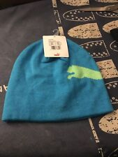 Puma Ocean green cat Beanie Hat brand New Genuine With Tags