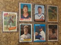 (7) Rick Suttcliffe 1980 Topps Rookie 1981 1982 + Fleer Donruss Card Lot RC Cubs