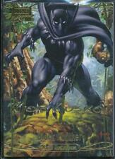 2016 Marvel Masterpieces Gold Foil Signature Trading Card #65 Black Panther