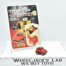 Bumblebee RED W CARDBACK Vintage Hasbro 1985 G1 Transformers Action Figure