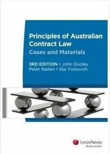 Principles of Australian Contract Law: Cases and Materials by Ilija Vickovich, …