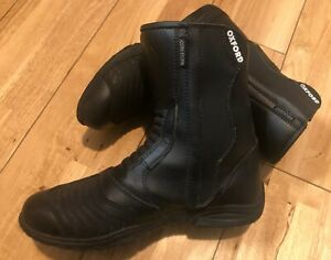 Oxford Mens Adults Motorbike Motorcycle Boots Waterproof Black Size UK 8 EU 42