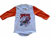 Rare Vintage Miami Dolphins Washington Redskins Super Bowl XVII 17 3/4 Sleeve Sm