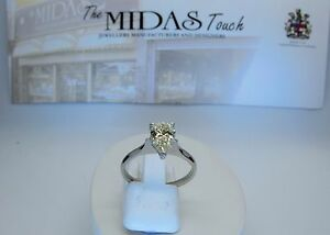 DIAMOND SOLITAIRE PEAR CUT NATURAL DIAMOND .RRP£7,500.00