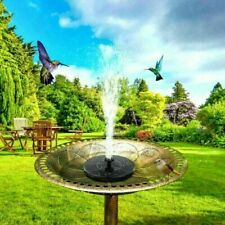 More details for mini solar powered water fountain outdoor pump bird bath pond waterfall garden