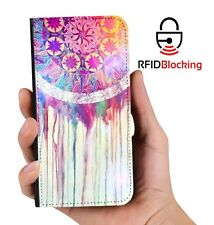 Dreamcatcher Waterfall Luxury Flip Cover Wallet Card PU Leather iPhone Case