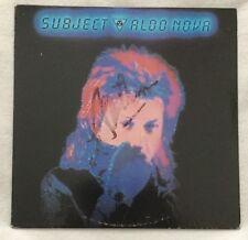 "Autographed Aldo Nova ""Subject"" Vinyl"