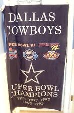 "Dallas Cowboys Superbowl Champions Banner/Flag 61"" H x 36"" W"