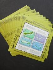 EDW1949SELL : B.I.O.T. 1975 Scott #85a Maps 10 Souvenir Sheets VF MNH Cat $100.