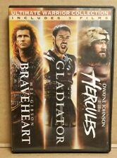 Ultimate Warrior Collection: Braveheart, Gladiator, & Hercules 3-Disc Set