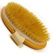 Professional Dry Skin Brush Natural Body Bristle Spa Bath Massager Firm Scrub
