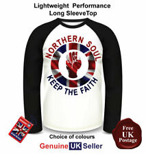Northern Soul Long Sleeve T Shirt, Men's Northern Soul, Baseball Top,