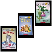 3 books- i can read my first reading mittens, digger and otter