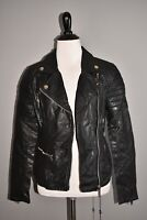BLANK NYC NEW $148 Faux Leather Moto Jacket in Frankenstorm XS