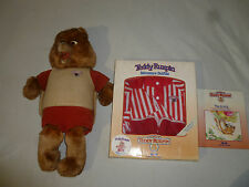 Vintage Wow Teddy Ruxpin Lot Plush Toy Adventure Outfits Nightshirt Airship Book