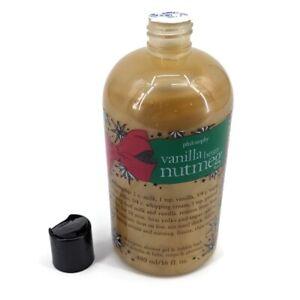 Philosophy Vanilla Bean Nutmeg Shampoo Shower Gel Bubble Bath NEW SEALED 16fl oz