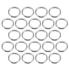 100pcs Small Key Ring Silver Plated Round Metal Split Rings Craft Making 6mm