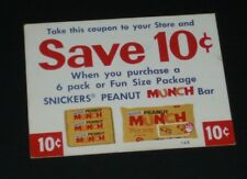 1972 Snicker Peanut MUNCH Candy bar coupon