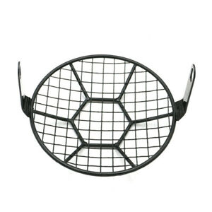 """6.3"""" Metal Mesh Grille Motorcycle Headlight Lamp Cover Mask Cafe Racer Chopper"""