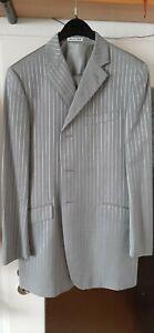 Gehrock Hochzeitsanzug Herren 4-teilig Gr.54, grau gestreift, 30% günstiger